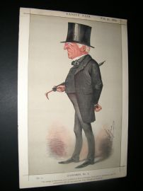 Vanity Fair Print 1869 Robert Lowe, Chancellor